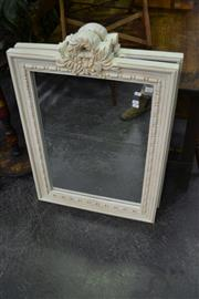 Sale 8117 - Lot 942 - Pair of White Framed Mirrors