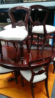 Sale 8147 - Lot 1056 - Set of 8 Mahogany Spoon Back Dining Chairs