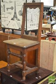 Sale 8255 - Lot 1082 - 17th Century Style Possible Chestnut Small Chair, with turned legs & stretchers (break to back)