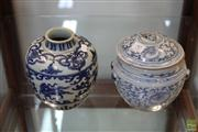 Sale 8285 - Lot 97 - Chinese Blue & White Jars