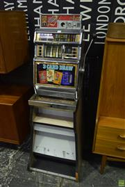 Sale 8550 - Lot 1099 - 3 Card Draw Gaming Machine