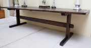 Sale 8677B - Lot 581 - A large rustic oregon refectory table, H x  76cm, W x 294cm, D x 88cm