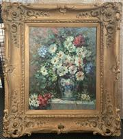 Sale 8686 - Lot 2028 - Artist Unknown -  Still Life oil on canvas, 75.5 x 66cm (frame), signed lower right