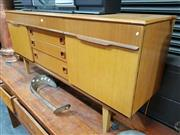 Sale 8782 - Lot 1027 - 1960s Teak Sideboard with 2 Doors and 4 Drawers