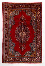 Sale 8740C - Lot 37 - A Persian Tabriz Wool And Silk Inlaid Pile, 342 x 224cm