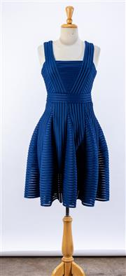Sale 8891F - Lot 82 - A maje royal blue strap dress in piped mesh, approx size 10