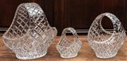 Sale 8942H - Lot 75 - Three graduated cut crystal  baskets