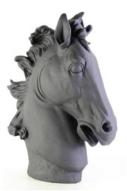 Sale 8972 - Lot 73 - A Large Black Painted Plaster Horse Head (H:63cm)