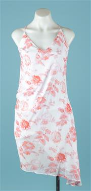 Sale 9027F - Lot 59 - A Marcs baby doll spaghetti strap floral print dress in pink and orange cotton, size 12.