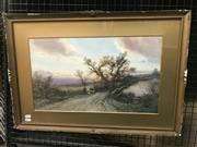 Sale 9072 - Lot 2011 - Frederick Pearson (C19rh) English Country Scene watercolour (AF),  47 x 68cm, signed