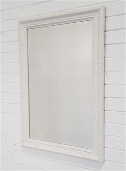 Sale 9240 - Lot 1078 - Painted timber frame mirror (103 x 72cm)