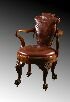Sale 3691 - Lot 30 - A GEORGE II STYLE REVOLVING DESK CHAIR late 19th century