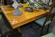 Sale 8093 - Lot 1085 - Timber Art Deco Style Dining Table