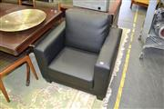 Sale 8115 - Lot 1201 - Pair Of Modern Leatherette Armchairs