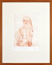 Sale 8257A - Lot 69 - John Olsen (1928 - ) - Degas in Old Age, 1993 30 x 22.5cm