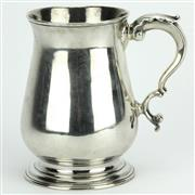 Sale 8264 - Lot 34 - English Hallmarked Sterling Silver George III Tankard