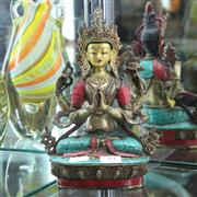 Sale 8362 - Lot 53 - Bronze Painted Guanyin Figure