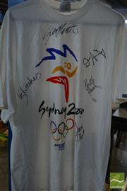 Sale 8548 - Lot 2358 - Signed Sydney 2000 Olympic TShirt incl. Susie ONeill