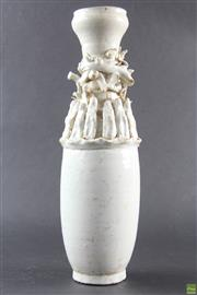 Sale 8568 - Lot 52 - Chinese Funerary Vase with Figures (H:36cm)