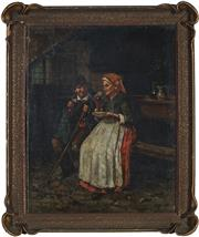 Sale 9055A - Lot 5063 - Artist Unknown (Hungarian School) - At the Inn 47 x 37.5 cm (frame 59 x 40 x 6 cm)
