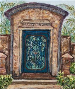 Sale 9150A - Lot 5009 - STANLEY PERL (1942 - ) A Door in Bali acrylic on canvas 61 x 50.5 cm signed and titled verso