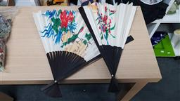 Sale 9176 - Lot 2274A - A pair of Chinese fans (L: 49cm)