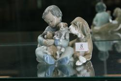 Sale 7917 - Lot 8 - Lladro Figure of Boy with Dog & Pups
