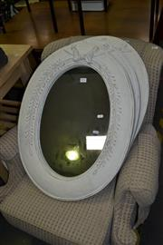 Sale 8117 - Lot 934 - 3 Oval Framed Mirrors