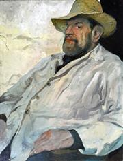 Sale 8297A - Lot 28 - Artist Unknown (XX) - The Poet: Portrait of Adrian Rawlins 78.5 x 60.5cm