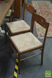 Sale 8307 - Lot 1016 - Set Of Six Rush Seat Chairs With Curved Backs