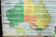 Sale 8487 - Lot 2026A - Vintage Chas H Scally Educational Map of Australia