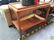 Sale 8447 - Lot 1083 - Teak Drinks Trolley