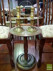 Sale 8465 - Lot 1057 - Wine Table and Candle Sticks