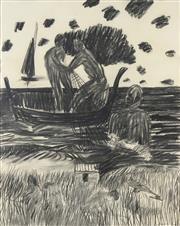 Sale 8722 - Lot 585 - Kevin Connor (1932 - ) - The Harvest at Almayate Bato, 1969 75 x 59.5cm