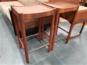 Sale 8805 - Lot 1028 - Pair of Parker Barstools