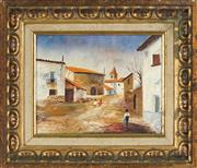 Sale 8845 - Lot 2031 - Jose Pedrol - Spanish Street Scene 19 x 24cm