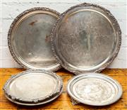 Sale 8942H - Lot 73 - A group of five silver plated trays and salvers