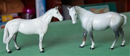 Sale 9103H - Lot 62 - A pair of grey Beswick horses, Length 23cm, one leg repaired