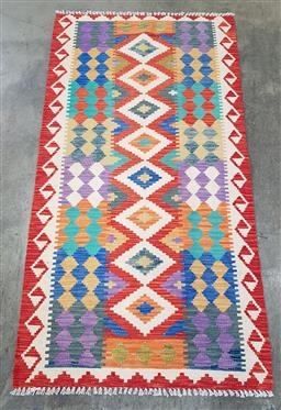 Sale 9188 - Lot 1334 - Persian hand knotted pure wool bohemian Kilim (200 x 100cm)