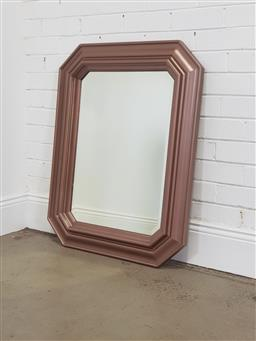 Sale 9240 - Lot 1079 - Painted timber frame mirror with bevelled edge (100 x 74cm)