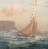 Sale 3655 - Lot 91 - John Allcott (1888-1973) - Sailboat off Headland 1932