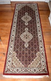 Sale 8088A - Lot 13 - Hand knotted Indo Tabriz runner (253 x 87cm)
