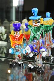 Sale 8098 - Lot 30 - Murano Glass Clown with Another Smaller Example
