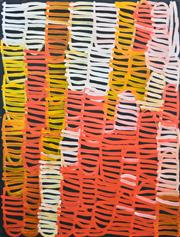Sale 8409A - Lot 531 - Minnie Pwerle (1922 - 2006) - Awelye Atnwengerrp, 2005 122 x 91cm (stretched & ready to hang)