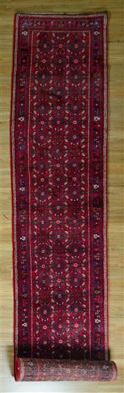 Sale 8665C - Lot 35 - Persian Husinabad Runner 505cm x 85cm
