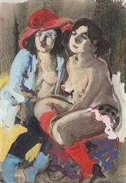 Sale 8791 - Lot 577 - Wendy Sharpe (1960 - ) - Untitled (Red Sun Hat) 42 x 29.5cm