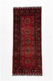 Sale 8790C - Lot 187 - An Afghan Kondoosi 100% Wool On Cotton Foundation And Natural Dyes, 155 x 67cm