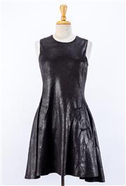 Sale 8891F - Lot 47 - A Nu, Denmark waxed black sleeveless cocktail dress, size small