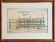 Sale 8996 - Lot 1006 - Framed Reproduction Print of Proposed Annandale Hotel (h:56 x w:74cm)