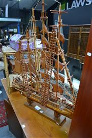 Sale 8031 - Lot 1028 - Oak and Walnut Model Boat